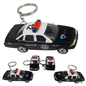 1:64 Scale Police Car With Key Chain and Full Color Graphics