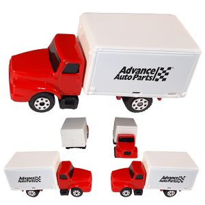 1/64 Scale Box Truck - Red and White