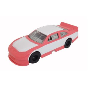 1/64 Scale Nascar Style Race Car - Pink & White w/ Full Graphics Package