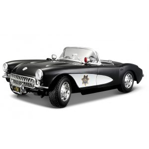 1:18 Scale 1957 Chevy Corvette Police Diecast Car